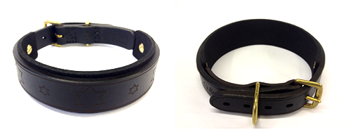 custom dog collars leather